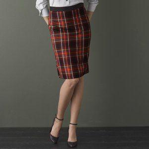J. Crew Stewart Tartan Plaid Pencil Skirt